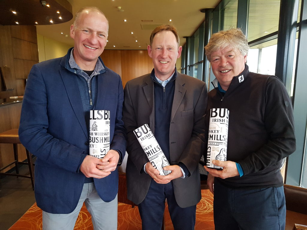 Our three nearest-to-the-pin winners: Robin Barwick, Andy Farrell & Alistair Tait