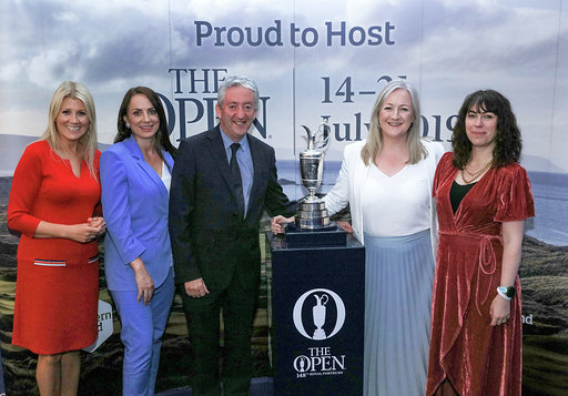 PORTRUSH, NORTHERN IRELAND - JULY 16: during the Association of Golf Writers Annual Dinner and Awards at Royal Portrush Golf Club on July 16, 2019 in Portrush, Northern Ireland. (Photo by David Cannon/Getty Images)