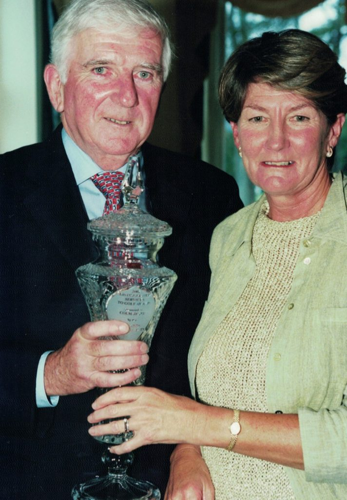 Colm and his wife, Helen at the Powerscourt GC awards night in 2002.