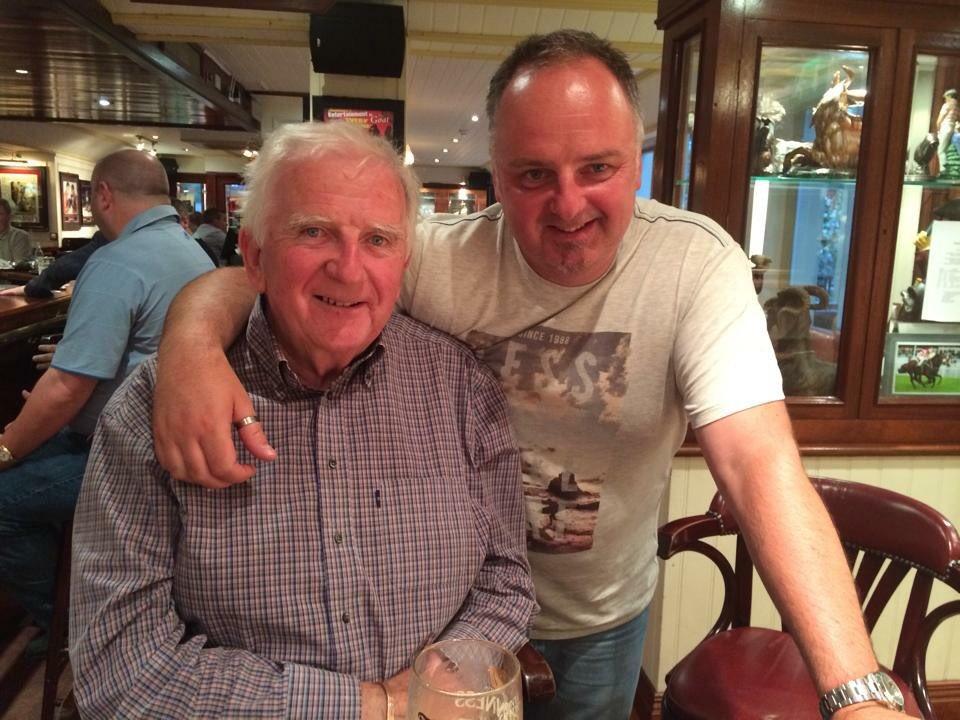 Colm and his son, John. (Photo thanks to John Smith)