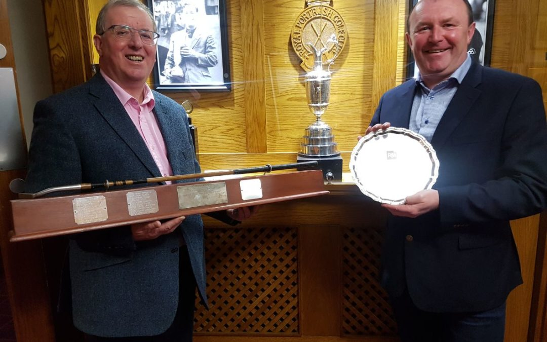 Denis Kirwan Keeps Irish Eyes Smiling Capturning R & A Salver At Royal Portrush