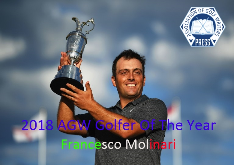 Francesco Molinari voted AGW Golfer of the Year
