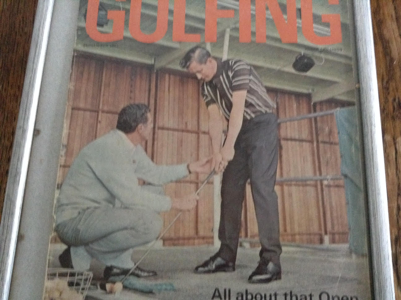John Ingram appearing on the front cover of Golf Illustrated receiving a lesson from John Jacobs.