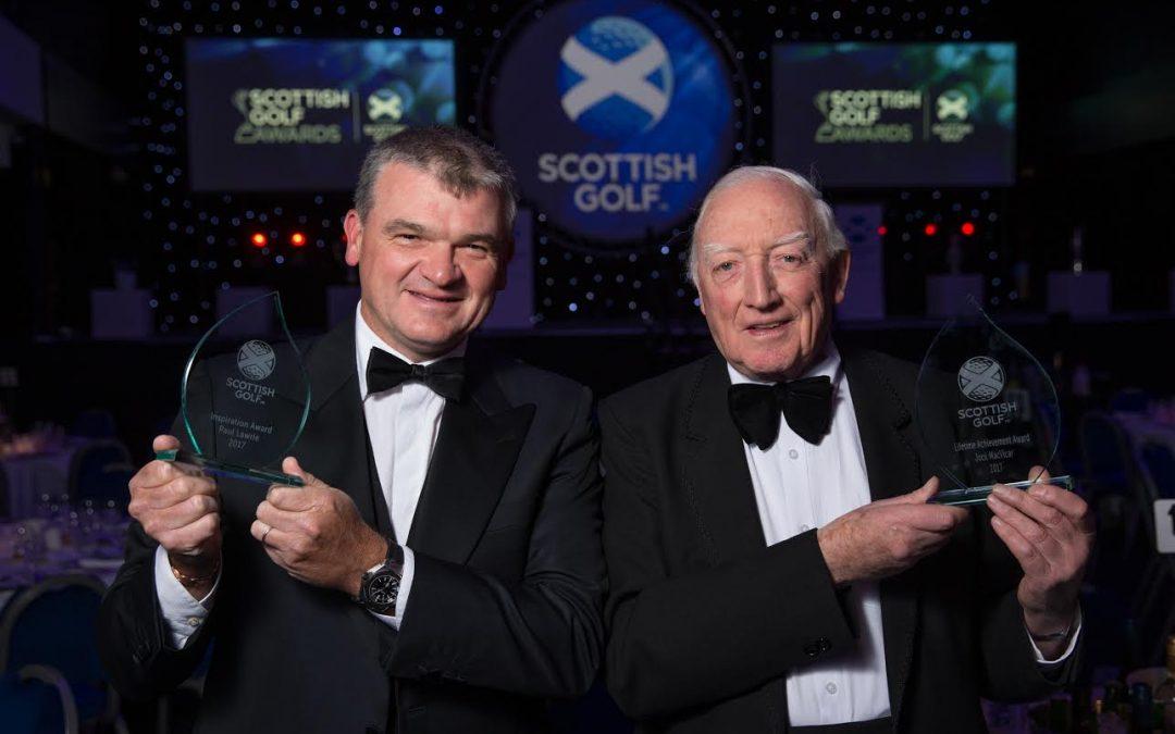 Jock MacVicar – Honoured With Lifetime Achievement Award At 2017 Scottish Golf Awards Dinner.