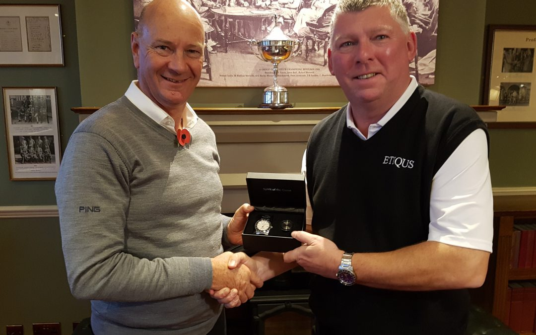 AGW – ETIQUS Golfer Of The Year – 2018 Final Standings