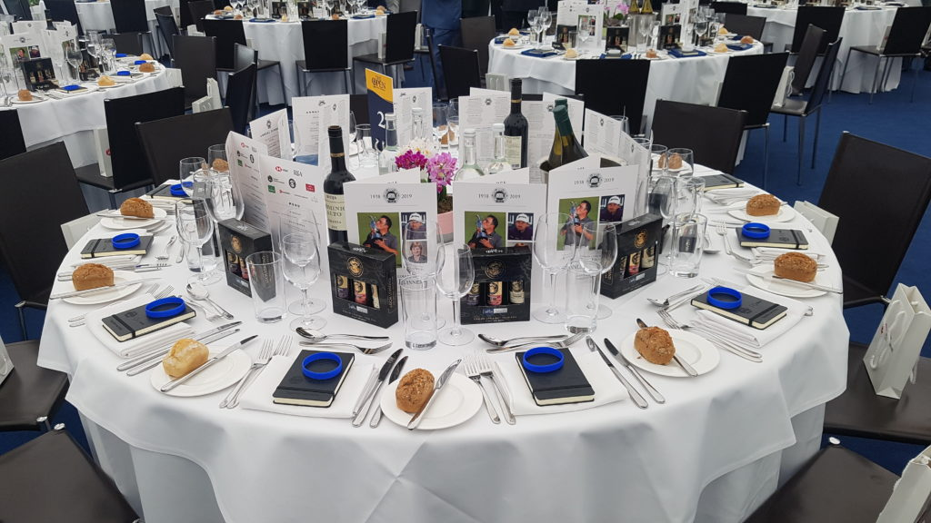 Table setting for the 2019 AGW annual dinner
