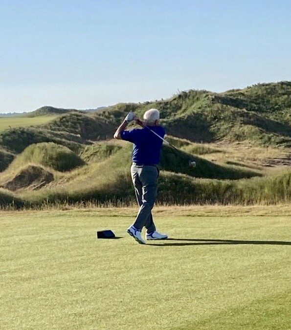 Campbell Hits Ceremonial Dumbarnie Links Opening Tee Shot