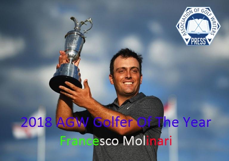 Francesco Molinari – Wins 2018 AGW Golfer Of The Year – First Italian In History Of AGW.