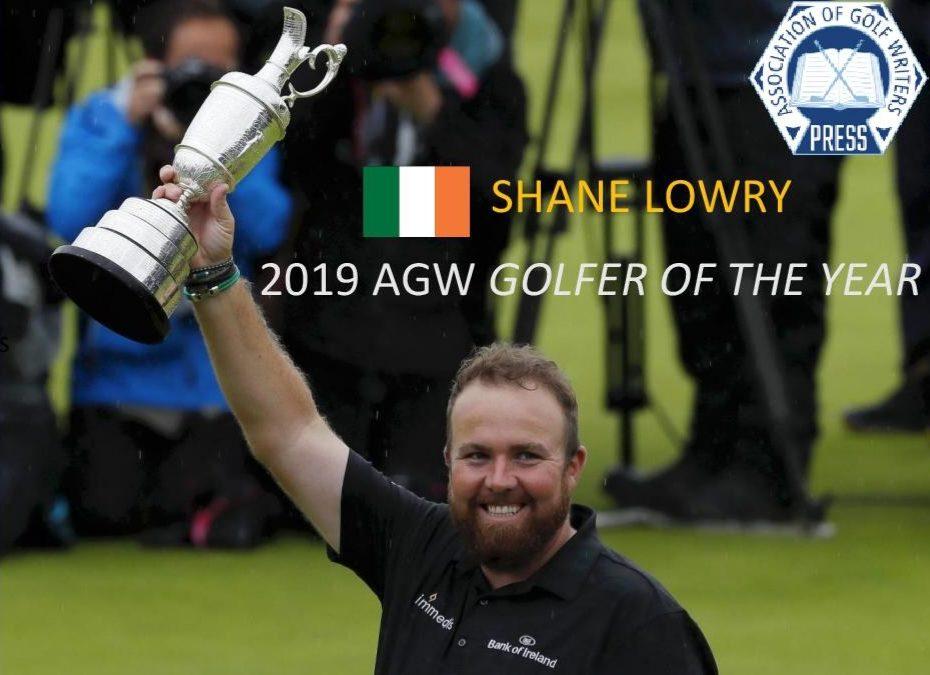 Shane Lowry Wins 2019 AGW Golfer Of The Year.